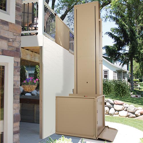 Residential Indoor and Outdoor Vertical Platform Wheelchair Lift