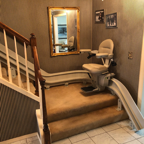 Bruno CRE 2110 Residential and Commercial Curved Stair Lift