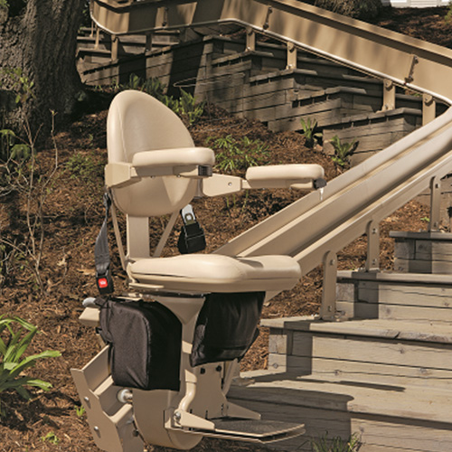 Bruno CRE 2110E Residential Outdoor Curved Stair Lift