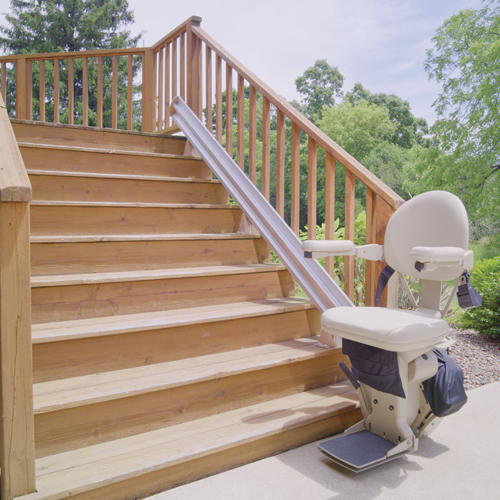Bruno SRE2010E Outdoor Residential Straight Rail Stair Lift
