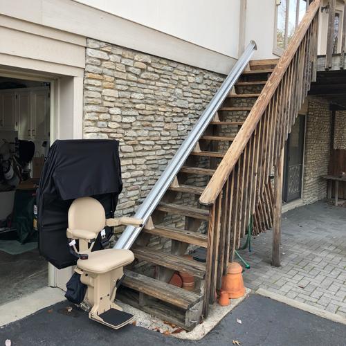 Bruno SRE2010E Outdoor Residential Straight Rail Stair Lift